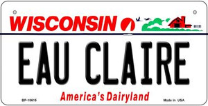 Eau Claire Wisconsin Wholesale Novelty Metal Bicycle Plate BP-10615