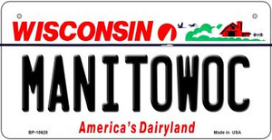 Manitowoc Wisconsin Wholesale Novelty Metal Bicycle Plate BP-10620