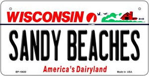 Sandy Beaches Wisconsin Wholesale Novelty Metal Bicycle Plate BP-10630