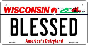 Blessed Wisconsin Wholesale Novelty Metal Bicycle Plate BP-10651