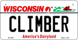 Climber Wisconsin Wholesale Novelty Metal Bicycle Plate BP-10657