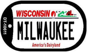 Milwaukee Wisconsin Wholesale Novelty Metal Dog Tag Necklace DT-10611