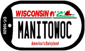 Manitowoc Wisconsin Wholesale Novelty Metal Dog Tag Necklace DT-10620