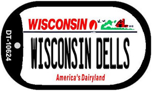 Wisconsin Dells Wisconsin Wholesale Novelty Metal Dog Tag Necklace DT-10624