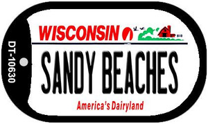Sandy Beaches Wisconsin Wholesale Novelty Metal Dog Tag Necklace DT-10630