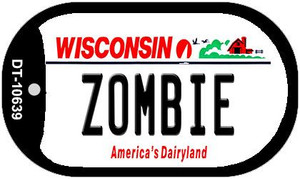 Zombie Wisconsin Wholesale Novelty Metal Dog Tag Necklace DT-10639