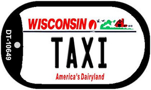 Taxi Wisconsin Wholesale Novelty Metal Dog Tag Necklace DT-10649