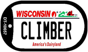 Climber Wisconsin Wholesale Novelty Metal Dog Tag Necklace DT-10657