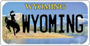 Wyoming Wholesale Novelty Metal Bicycle Plate BP-10512