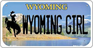 Wyoming Girl Wholesale Novelty Metal Bicycle Plate BP-10515