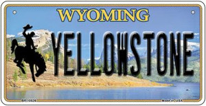 Yellowstone Wyoming Wholesale Novelty Metal Bicycle Plate BP-10526