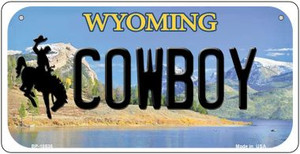 Cowboy Wyoming Wholesale Novelty Metal Bicycle Plate BP-10530