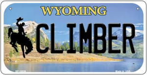 Climber Wyoming Wholesale Novelty Metal Bicycle Plate BP-10536