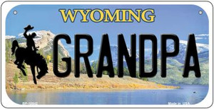 Grandpa Wyoming Wholesale Novelty Metal Bicycle Plate BP-10542