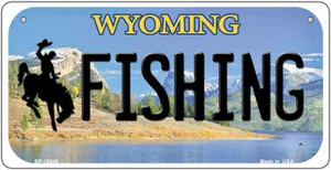Fishing Wyoming Wholesale Novelty Metal Bicycle Plate BP-10548