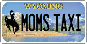 Moms Taxi Wyoming Wholesale Novelty Metal Bicycle Plate BP-10552
