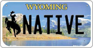 Native Wyoming Wholesale Novelty Metal Bicycle Plate BP-10554