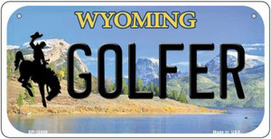 Golfer Wyoming Wholesale Novelty Metal Bicycle Plate BP-10556