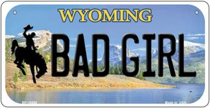 Bad Girl Wyoming Wholesale Novelty Metal Bicycle Plate BP-10559