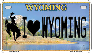 I Love Wyoming Wholesale Novelty Metal Motorcycle Plate MP-10513