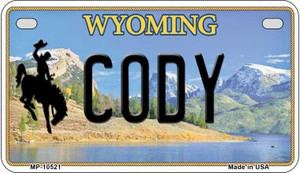 Cody Wyoming Wholesale Novelty Metal Motorcycle Plate MP-10521