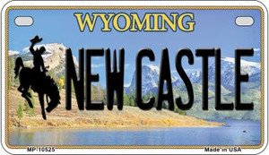 New Castle Wyoming Wholesale Novelty Metal Motorcycle Plate MP-10525
