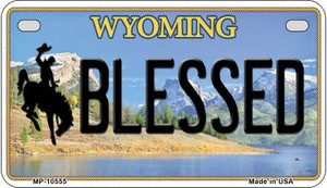 Blessed Wyoming Wholesale Novelty Metal Motorcycle Plate MP-10555