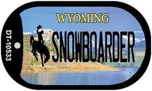 Snowboarder Wyoming Wholesale Novelty Metal Dog Tag Necklace DT-10533