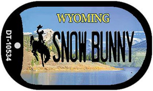 Snow Bunny Wyoming Wholesale Novelty Metal Dog Tag Necklace DT-10534