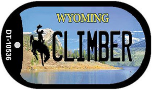 Climber Wyoming Wholesale Novelty Metal Dog Tag Necklace DT-10536