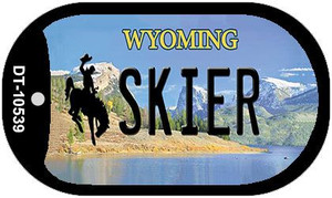 Skier Wyoming Wholesale Novelty Metal Dog Tag Necklace DT-10539