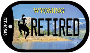 Retired Wyoming Wholesale Novelty Metal Dog Tag Necklace DT-10543