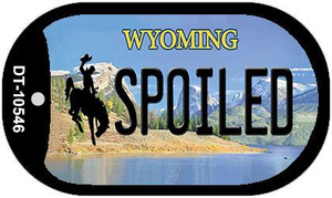 Spoiled Wyoming Wholesale Novelty Metal Dog Tag Necklace DT-10546