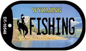 Fishing Wyoming Wholesale Novelty Metal Dog Tag Necklace DT-10548