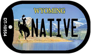 Native Wyoming Wholesale Novelty Metal Dog Tag Necklace DT-10554