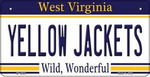 Yellow Jackets West Virginia Wholesale Novelty Metal Bicycle Plate BP-6544