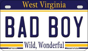 Bad Boy West Virginia Wholesale Novelty Metal Motorcycle Plate MP-6516