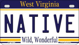 Native West Virginia Wholesale Novelty Metal Motorcycle Plate MP-6517