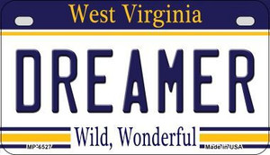 Dreamer West Virginia Wholesale Novelty Metal Motorcycle Plate MP-6527