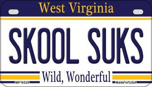 Skool Suks West Virginia Wholesale Novelty Metal Motorcycle Plate MP-6529