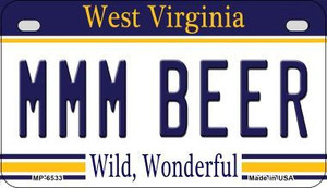 MMM Beer West Virginia Wholesale Novelty Metal Motorcycle Plate MP-6533