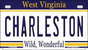 Charleston West Virginia Wholesale Novelty Metal Motorcycle Plate MP-6537