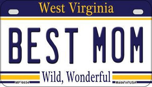 Best Mom West Virginia Wholesale Novelty Metal Motorcycle Plate MP-6654