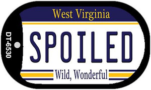 Spoiled West Virginia Wholesale Novelty Metal Dog Tag Necklace DT-6530
