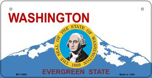 Washington State Seal Wholesale Novelty Metal Bicycle Plate BP-11683