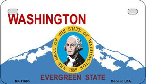 Washington State Seal Wholesale Novelty Metal Motorcycle Plate MP-11683
