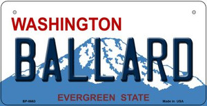Ballard Washington Wholesale Novelty Metal Bicycle Plate BP-8663