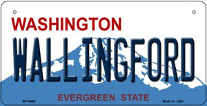 Wallingford Washington Wholesale Novelty Metal Bicycle Plate BP-8666