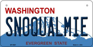 Snoqualmie Washington Wholesale Novelty Metal Bicycle Plate BP-8667