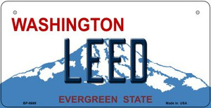 Leed Washington Wholesale Novelty Metal Bicycle Plate BP-8669